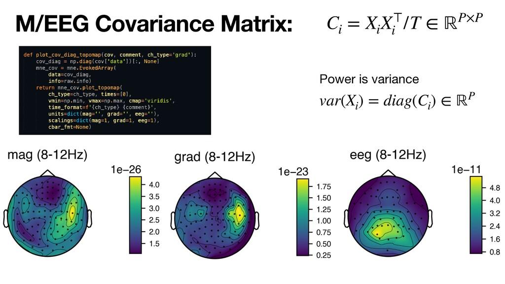 M/EEG Covariance Matrix: Power is variance var(...