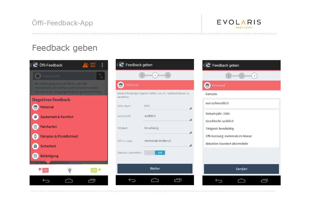 Öffi-Feedback-App Feedback geben