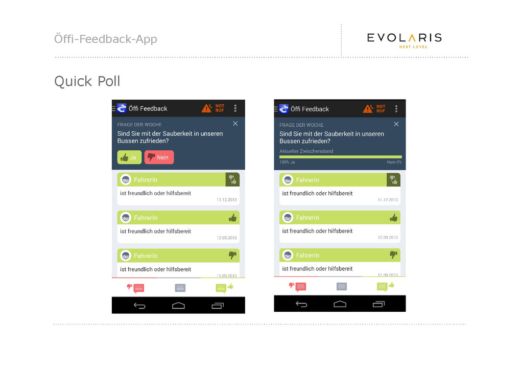 Öffi-Feedback-App Quick Poll