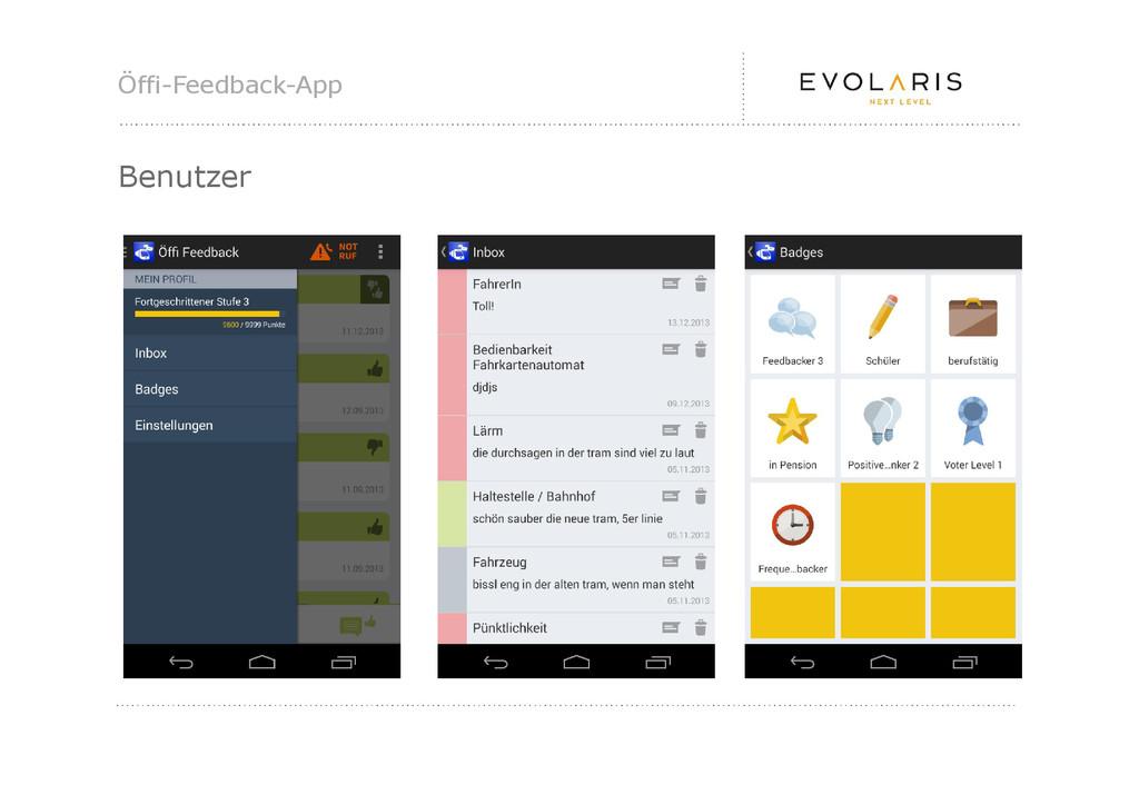 Öffi-Feedback-App Benutzer