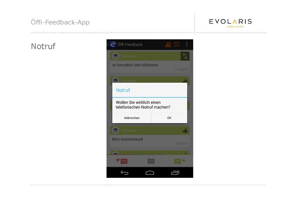 Öffi-Feedback-App Notruf