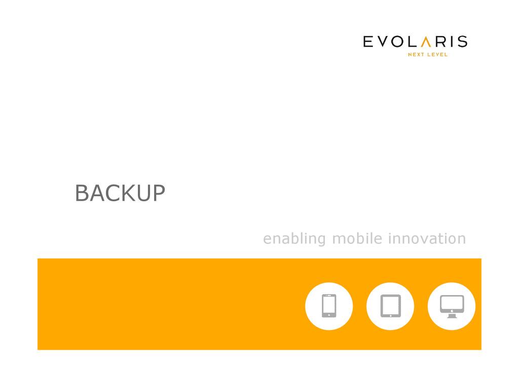 enabling mobile innovation BACKUP