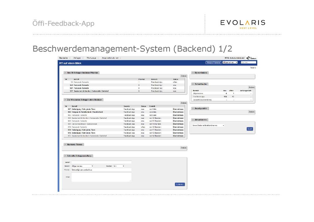 Öffi-Feedback-App Beschwerdemanagement-System (...