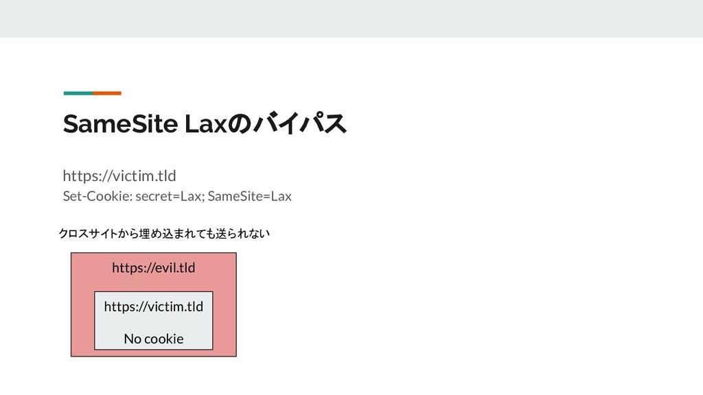 SameSite Laxのバイパス https://victim.tld Set-Cookie...