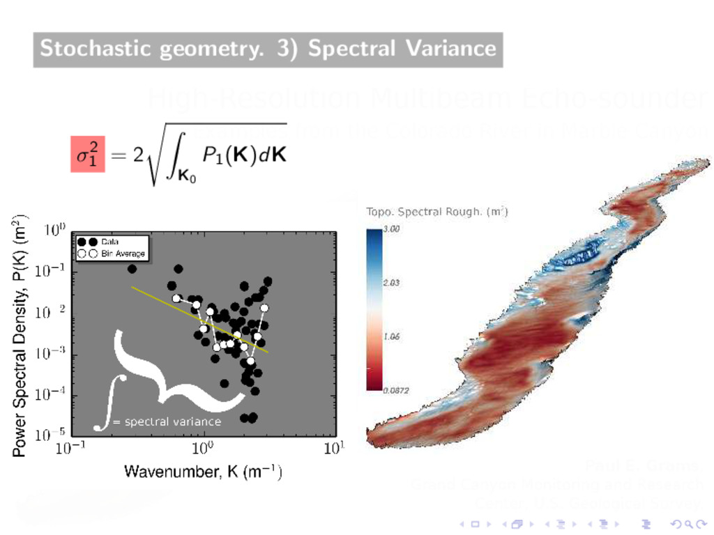Stochastic geometry. 3) Spectral Variance σ2 1 ...