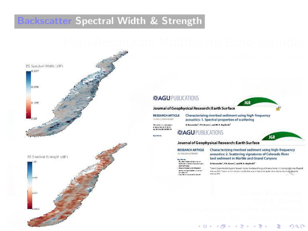 Backscatter Spectral Width & Strength