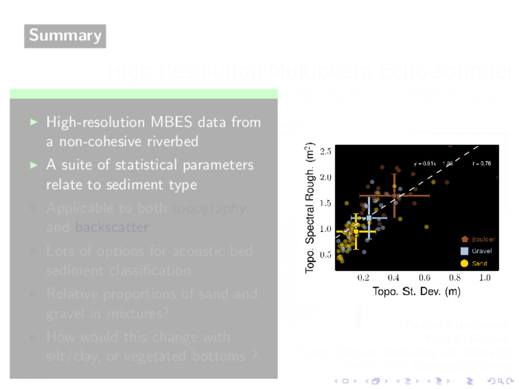 Summary ◮ High-resolution MBES data from a non-...
