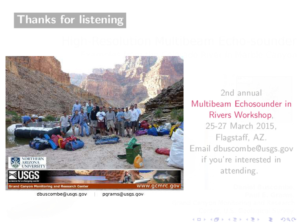 Thanks for listening 2nd annual Multibeam Echos...