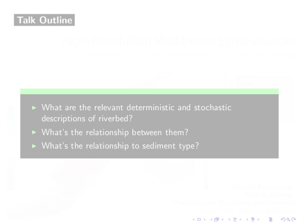 Talk Outline ◮ What are the relevant determinis...