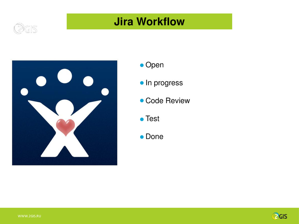 Jira Workflow Open In progress Code Review Test...