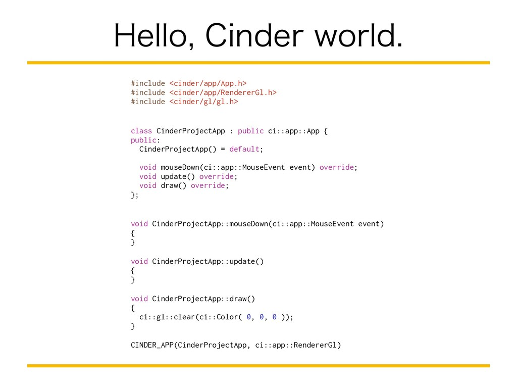 )FMMP$JOEFSXPSME #include <cinder/app/App.h...