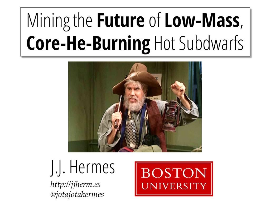 Mining the Future of Low-Mass, Core-He-Burning ...