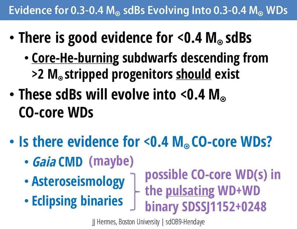 Evidence for 0.3-0.4 M ¤ sdBs Evolving Into 0.3...