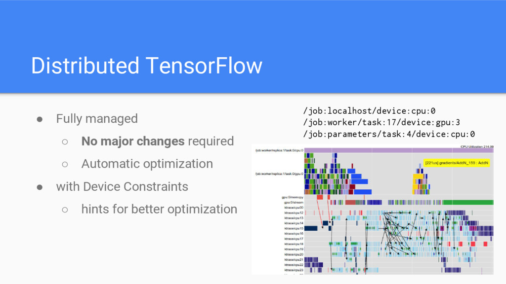 Distributed TensorFlow ● Fully managed ○ No maj...