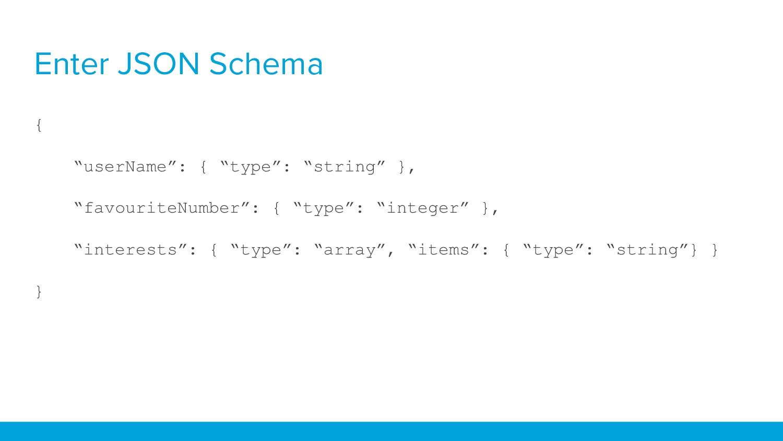 """Enter JSON Schema { """"userName"""": { """"type"""": """"stri..."""