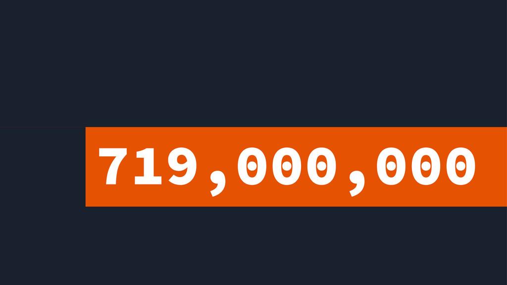 719,000,000 2.5BILLI*N