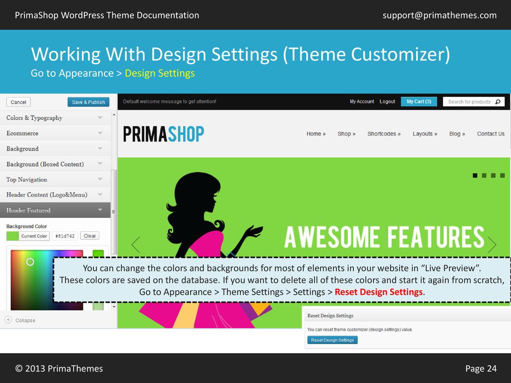© 2013 PrimaThemes Page 24 PrimaShop WordPress ...