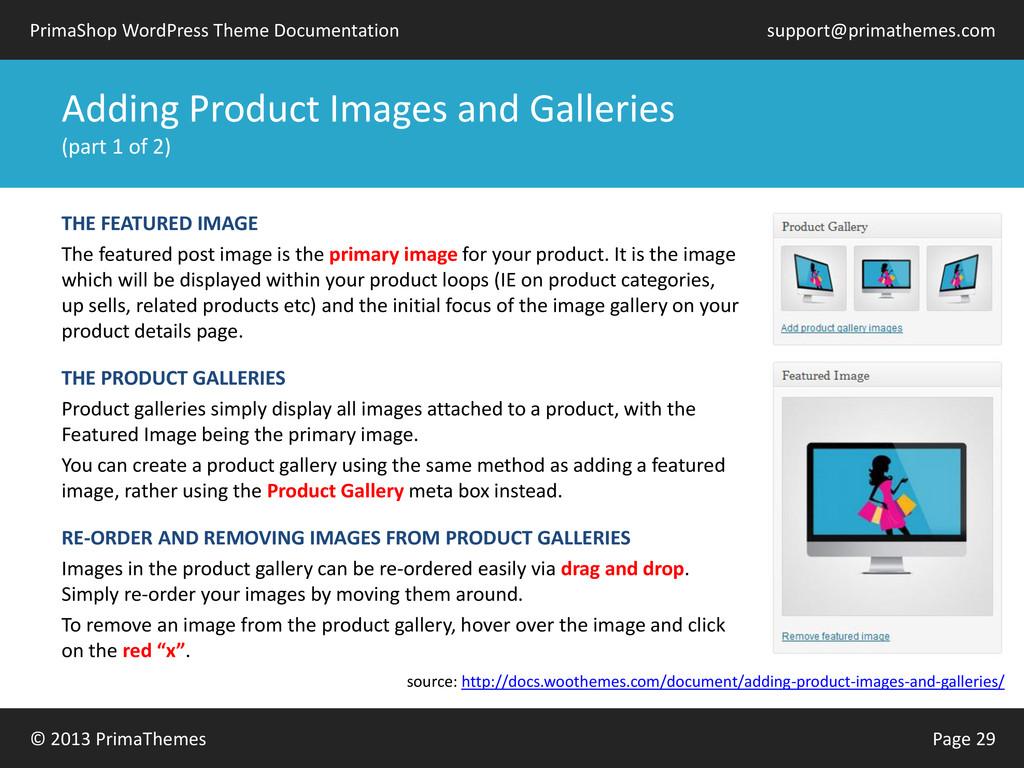 © 2013 PrimaThemes Page 29 PrimaShop WordPress ...
