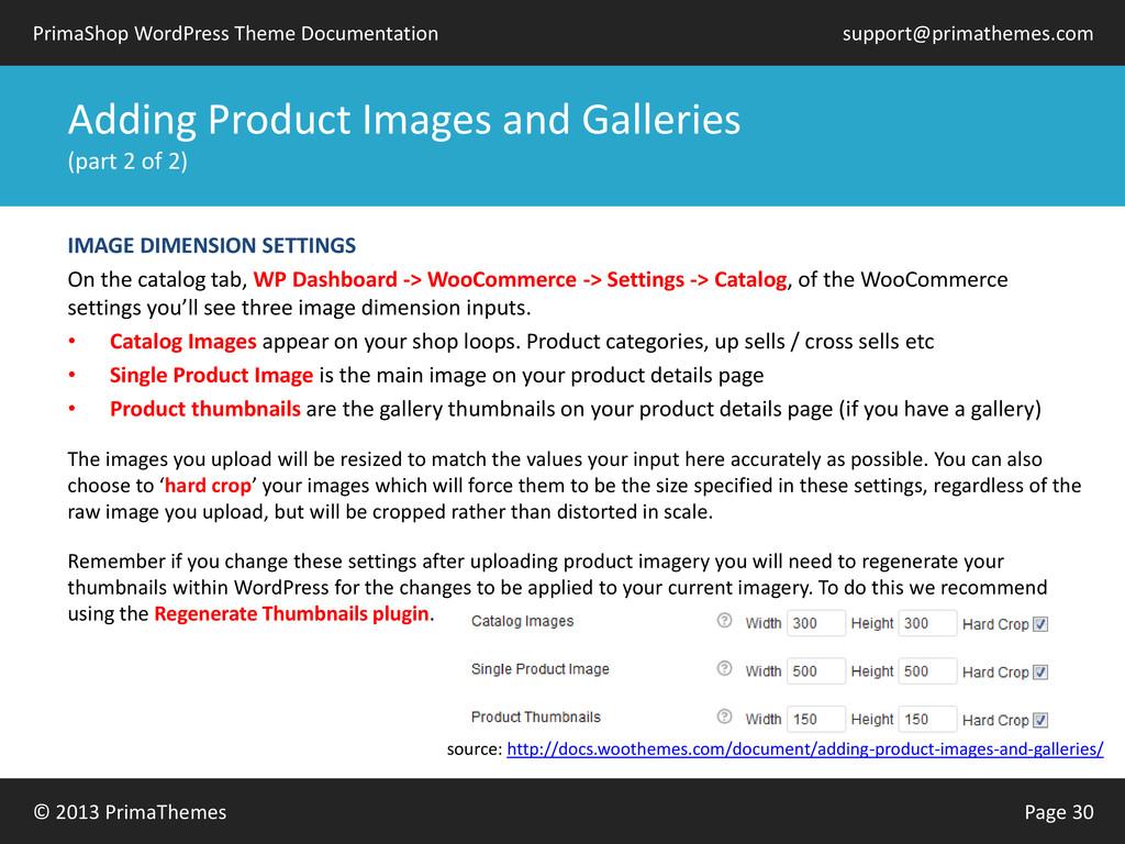 © 2013 PrimaThemes Page 30 PrimaShop WordPress ...