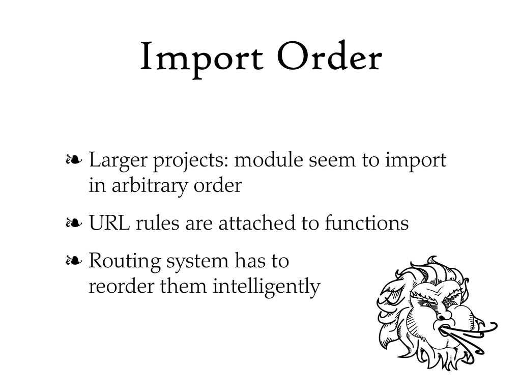 Import Order ❧ Larger projects: module seem to ...