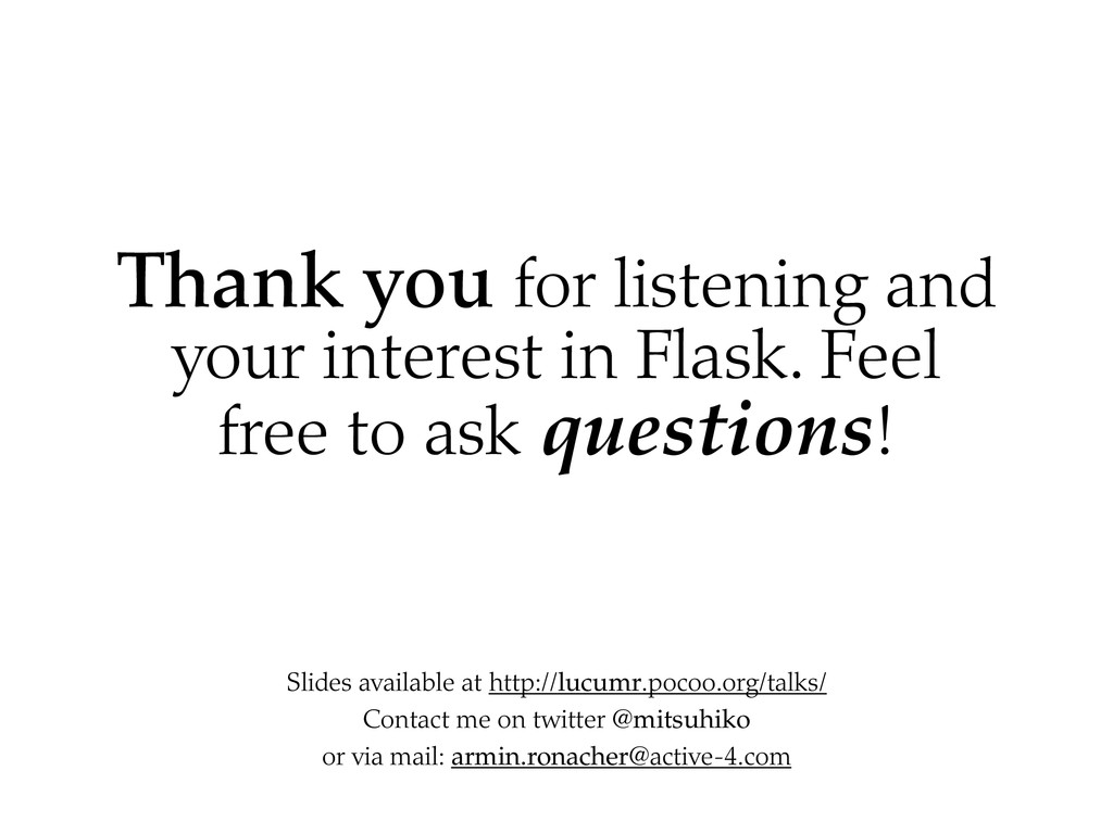 Thank you for listening and your interest in Fl...