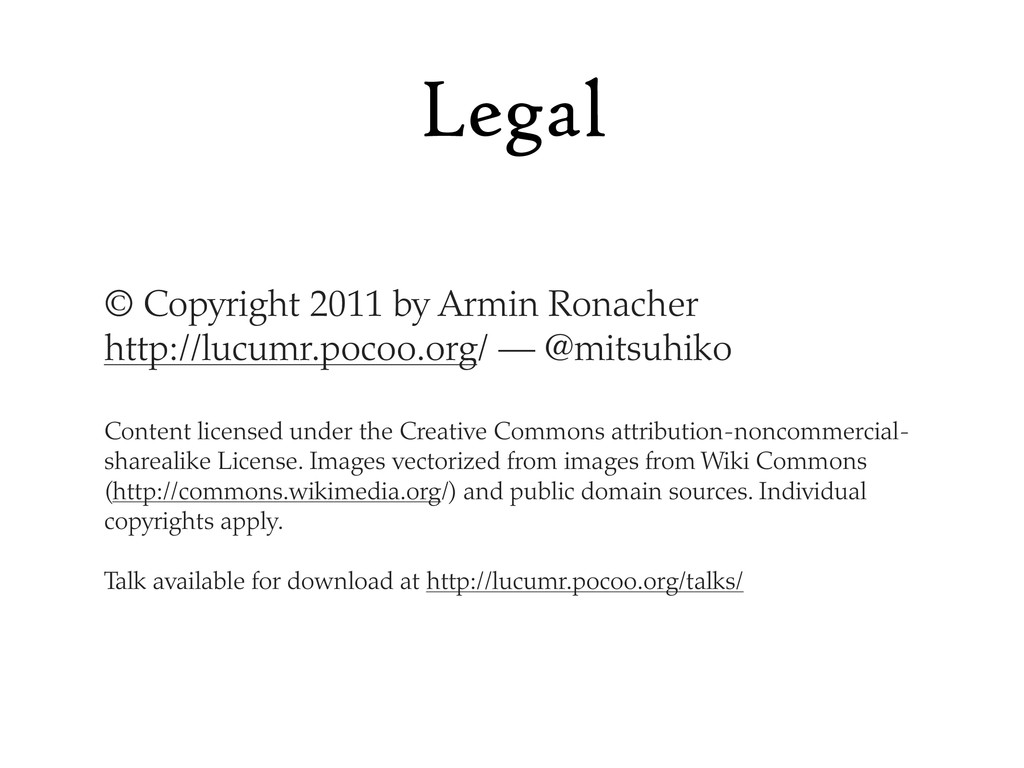 Legal © Copyright 2011 by Armin Ronacher http:/...