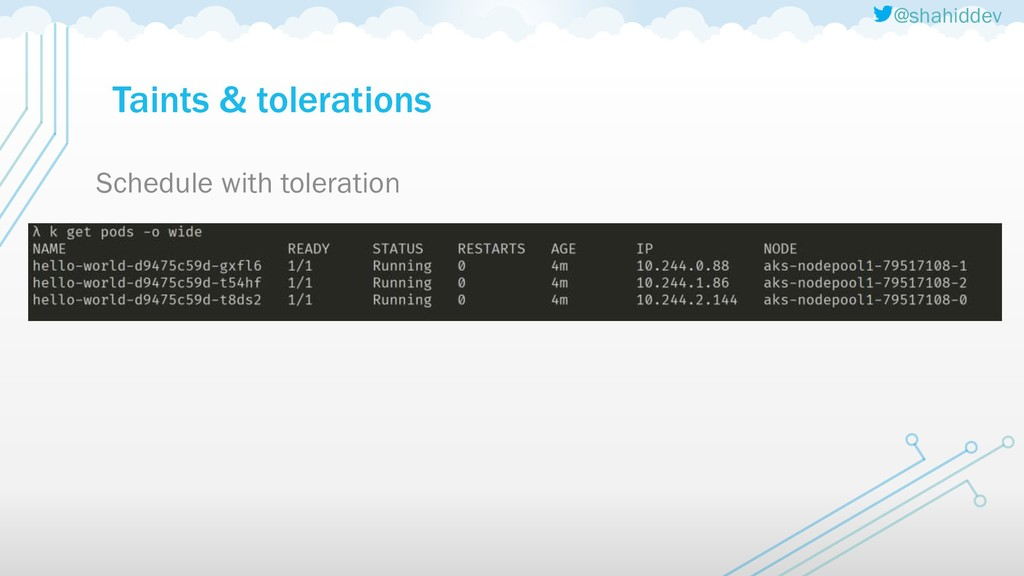 @shahiddev Taints & tolerations Schedule with t...