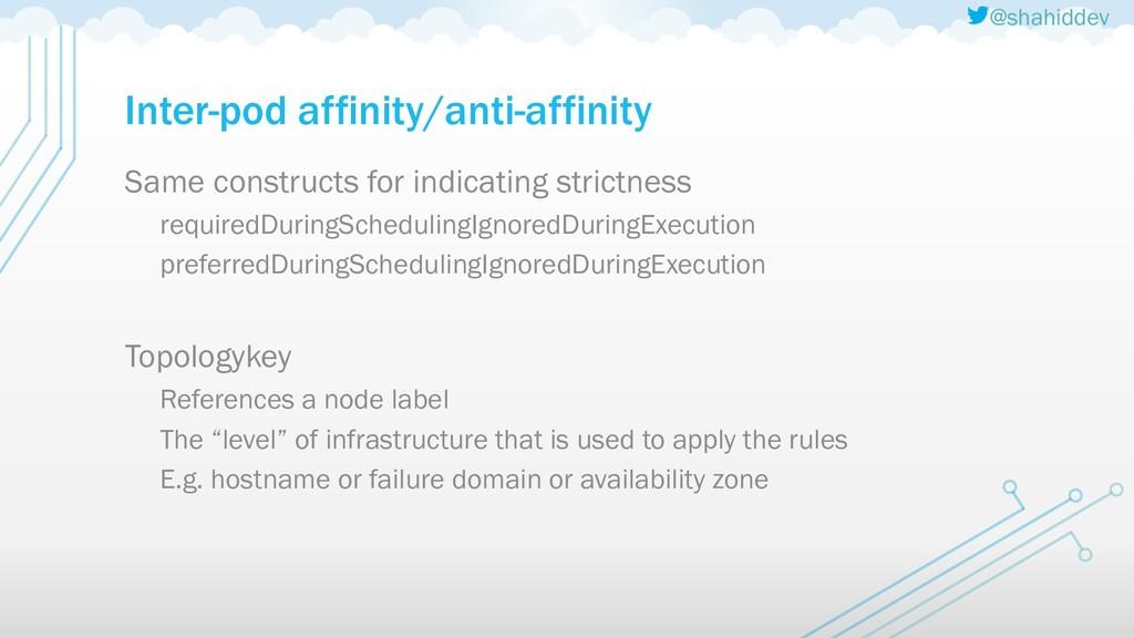 @shahiddev Inter-pod affinity/anti-affinity Sam...