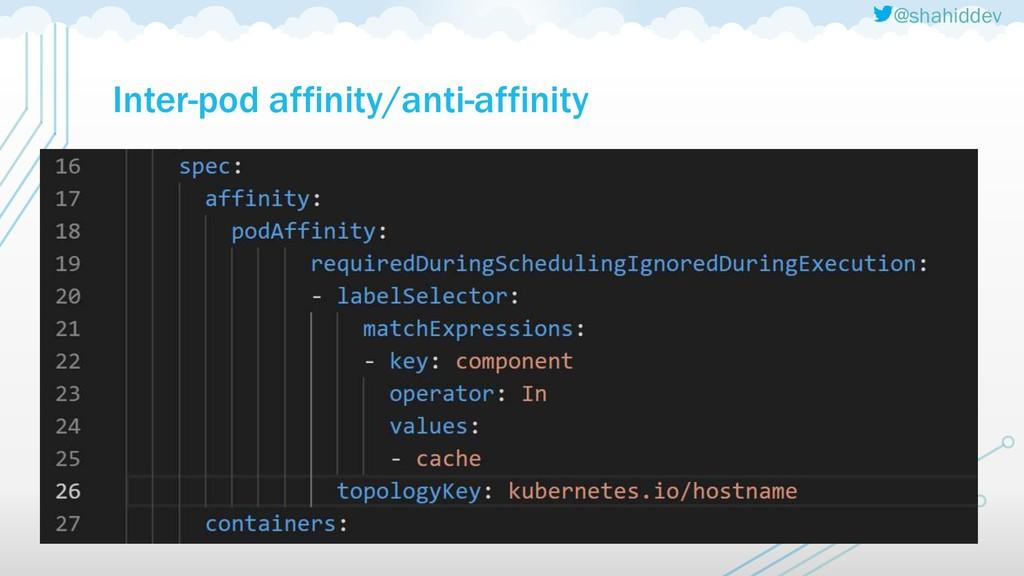 @shahiddev Inter-pod affinity/anti-affinity
