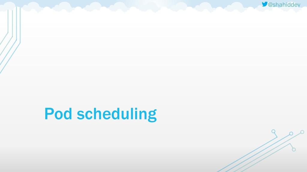 @shahiddev Pod scheduling