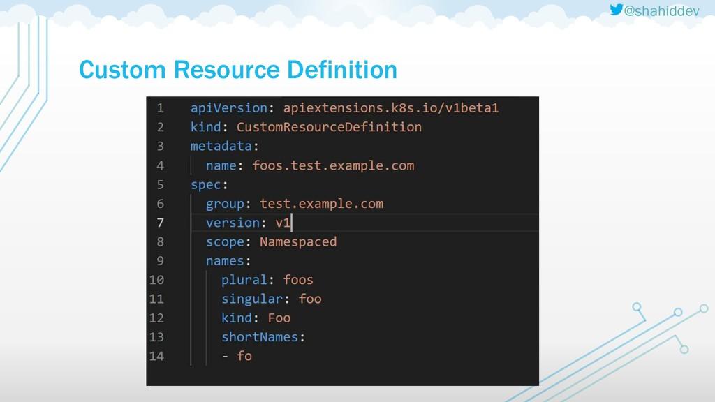 @shahiddev Custom Resource Definition