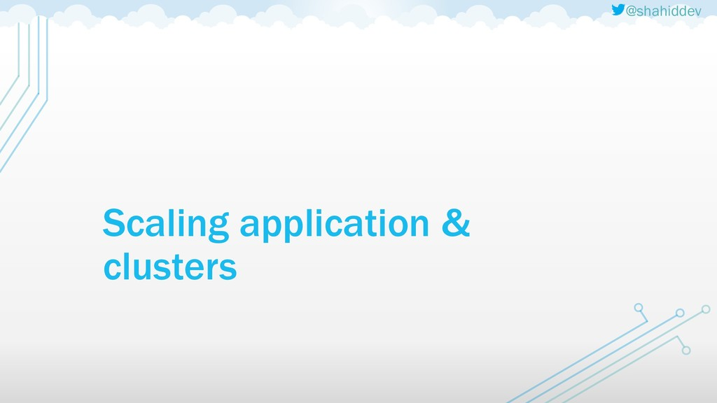 @shahiddev Scaling application & clusters