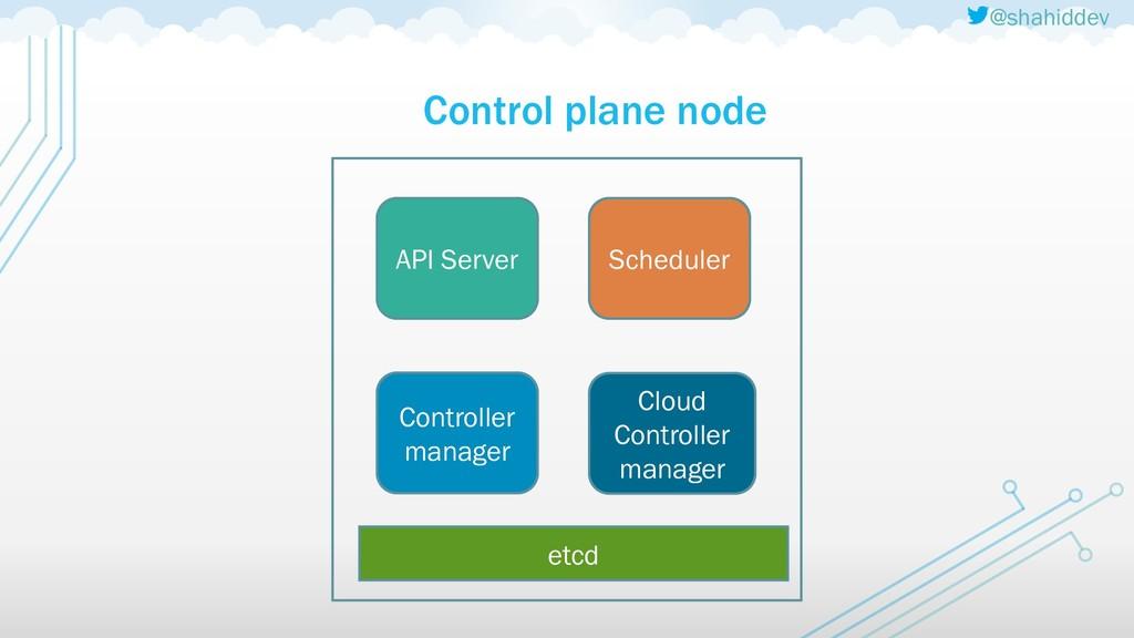 @shahiddev Control plane node etcd API Server S...