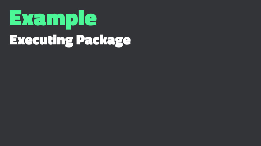 Example Executing Package