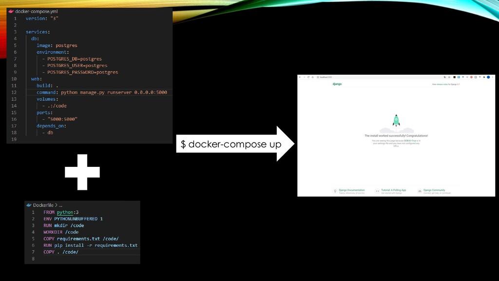 $ docker-compose up