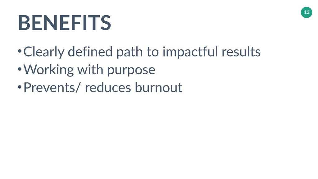BENEFITS •Clearly defined path to impactful res...
