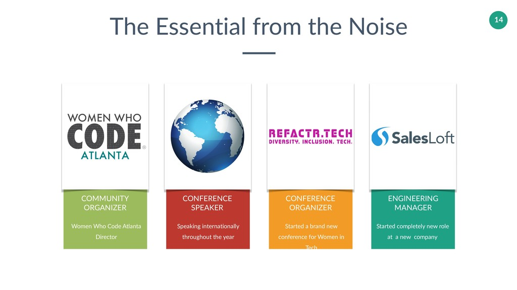 The Essential from the Noise CONFERENCE SPEAKER...