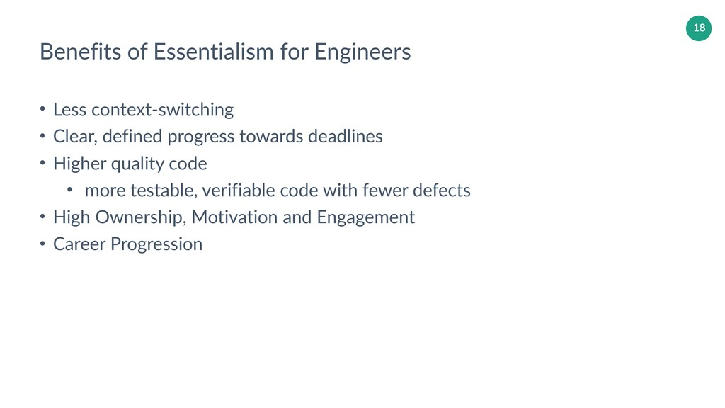 18 Benefits of Essentialism for Engineers • Les...