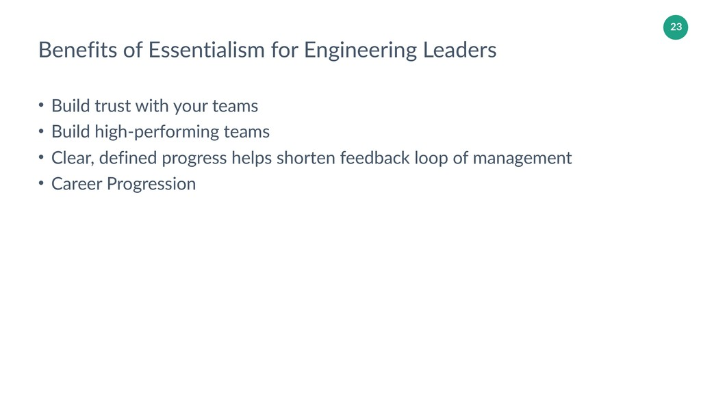 23 Benefits of Essentialism for Engineering Lea...