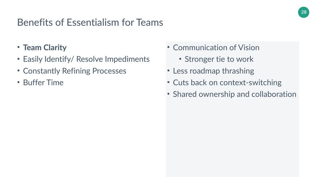 28 Benefits of Essentialism for Teams • Communi...
