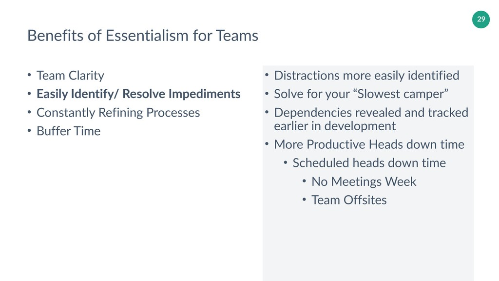 29 Benefits of Essentialism for Teams • Team Cl...