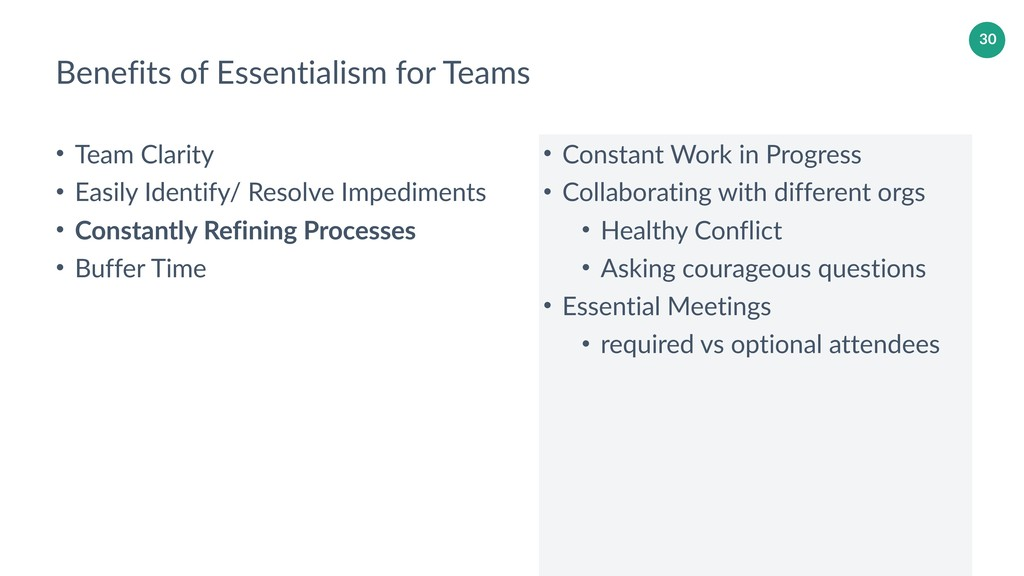30 Benefits of Essentialism for Teams • Team Cl...