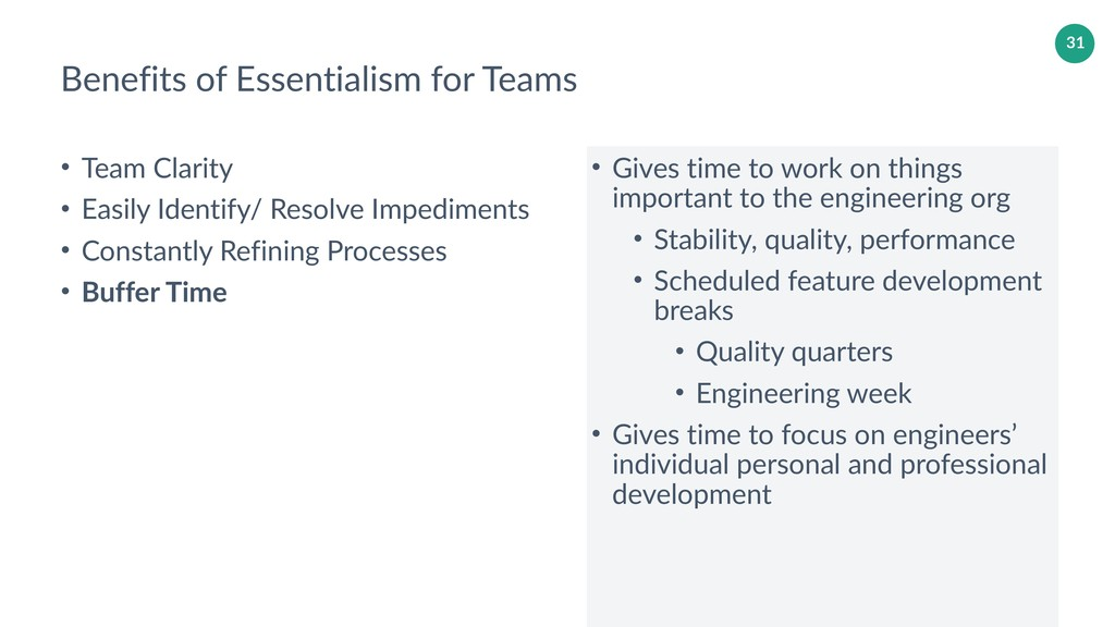 31 Benefits of Essentialism for Teams • Team Cl...