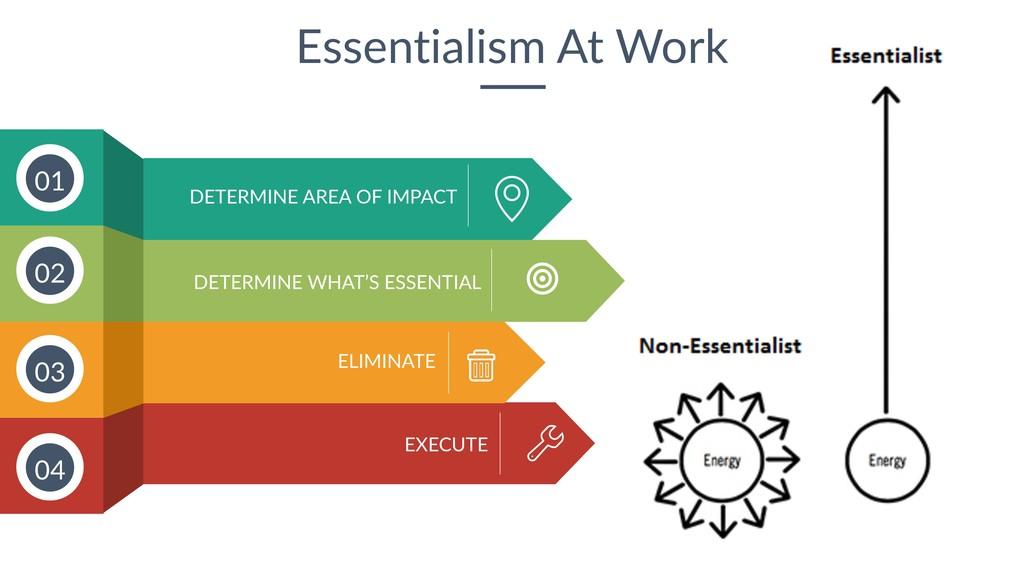 32 Essentialism At Work DETERMINE WHAT'S ESSENT...