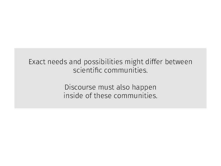 Exact needs and possibilities might differ betw...