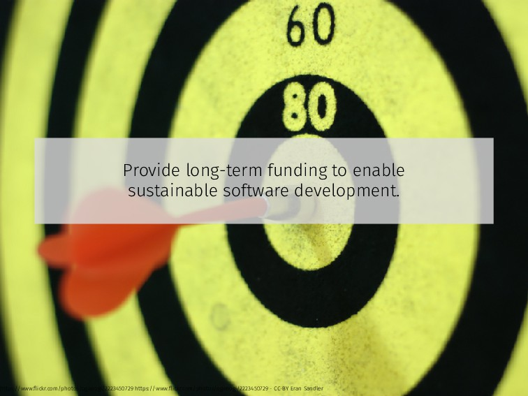 Provide long-term funding to enable sustainable...