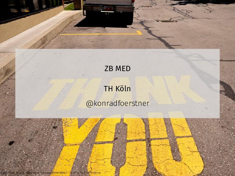 ZB MED TH Köln @konradfoerstner http://www.flic...