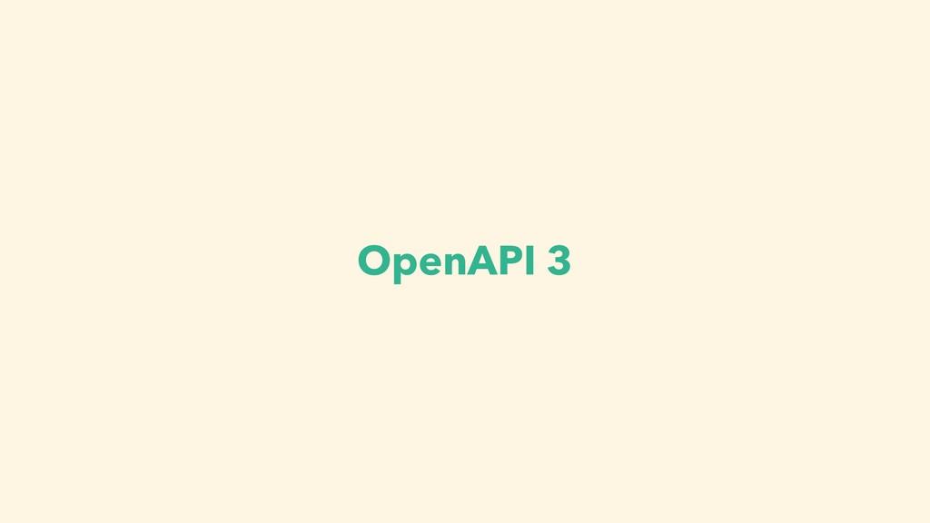 OpenAPI 3