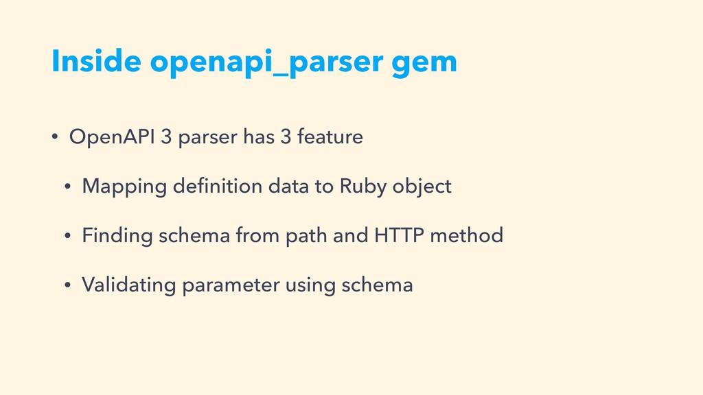 Inside openapi_parser gem • OpenAPI 3 parser ha...