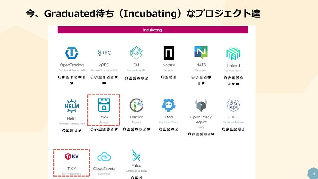 5 今、Graduated待ち(Incubating)なプロジェクト達